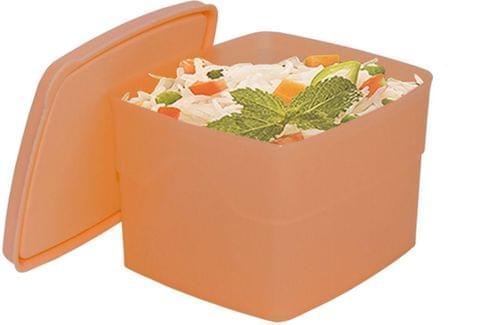 Cello Max Fresh Classic Square Large Polypropylene Container, 875ml, Peach A059(Peach)