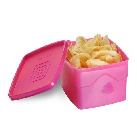 Cello Max Fresh Classic Square Large Polypropylene Container, 875ml, Pink A059(Pink)