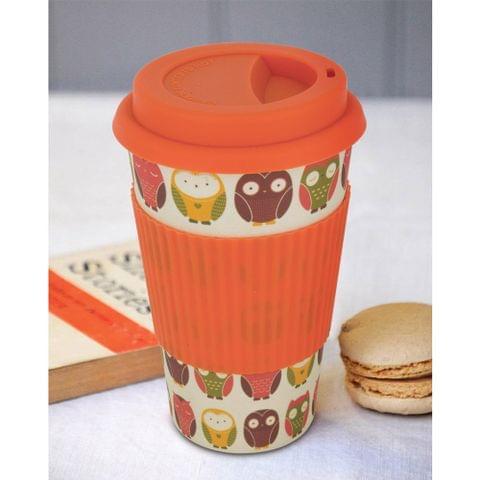 Freelance Bamboo Fibre Travel Mug, 400ml, Multicolour (EMJ004) FTC-EMJ004ORANGE