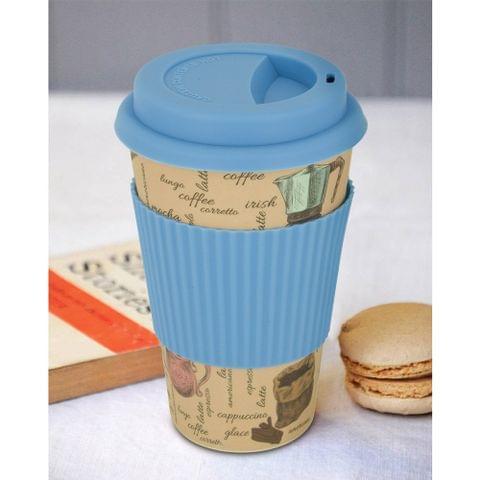 Freelance Bamboo Fibre Travel Mug, 400ml, Multicolour (EMJ005) FTC-EMJ005BLUE