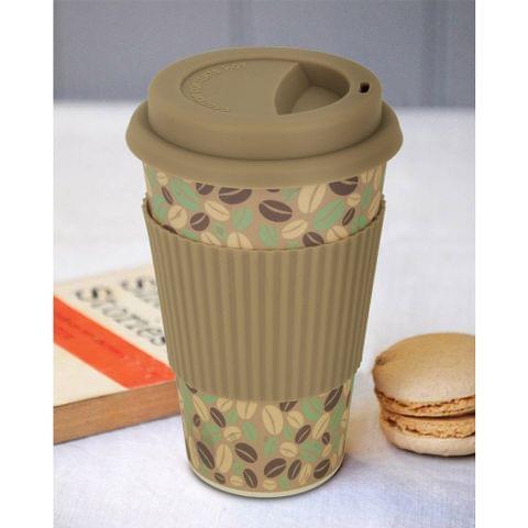 Freelance Bamboo Fibre Travel Mug, 400ml, Multicolour (EMJ007) FTC-EMJ007GREY