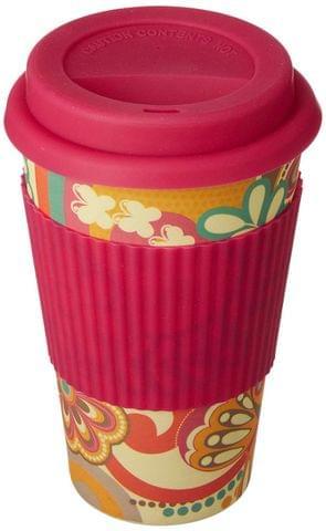 Freelance Bamboo Fibre Travel Mug, 400ml, Multicolour (EMJ010) FTC-EMJ010