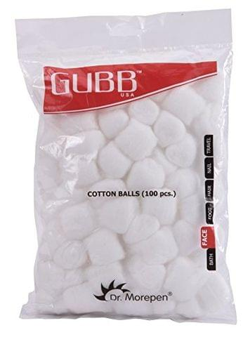 Gubb USA Cotton Balls White 100 Pieces For Face Cleansing & Makeup Removal GUBB-006