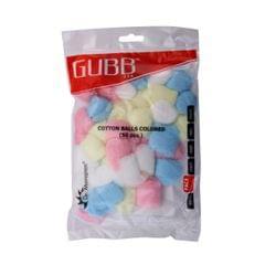 Gubb USA Cotton Balls Coloured 50 Pieces For Face Cleansing & Makeup Removal GUBB-008