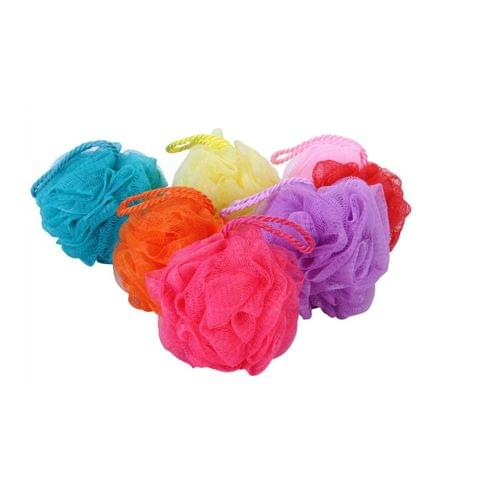 GUBB Plastic Bath Sponge Round Loose Loofah (Colors May Vary) GUBB-087