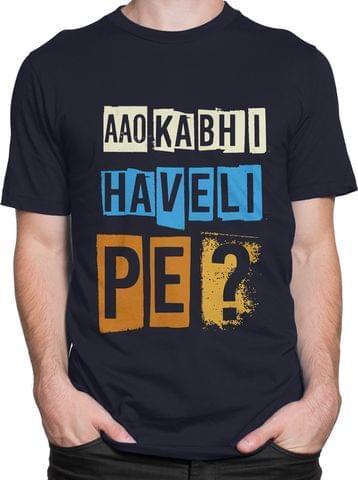 Aao Kabhi Haveli Pe Round Neck T-Shirt