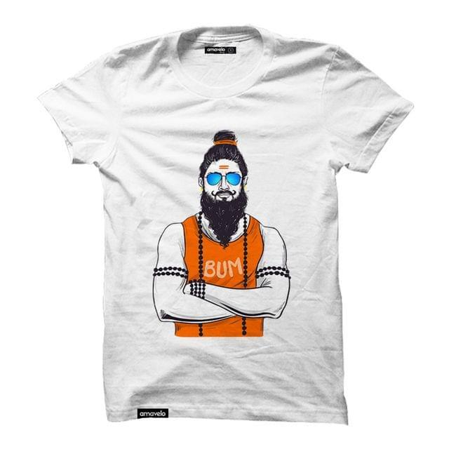 Bum Bum Bhole Round Neck T-Shirt