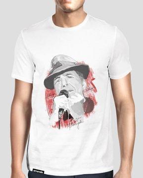 Cohen Hallelujah Round Neck T-Shirt