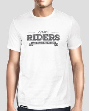 Crazy Riders Round Neck T-Shirt