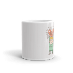 Super Mom Heart Coffee Mug