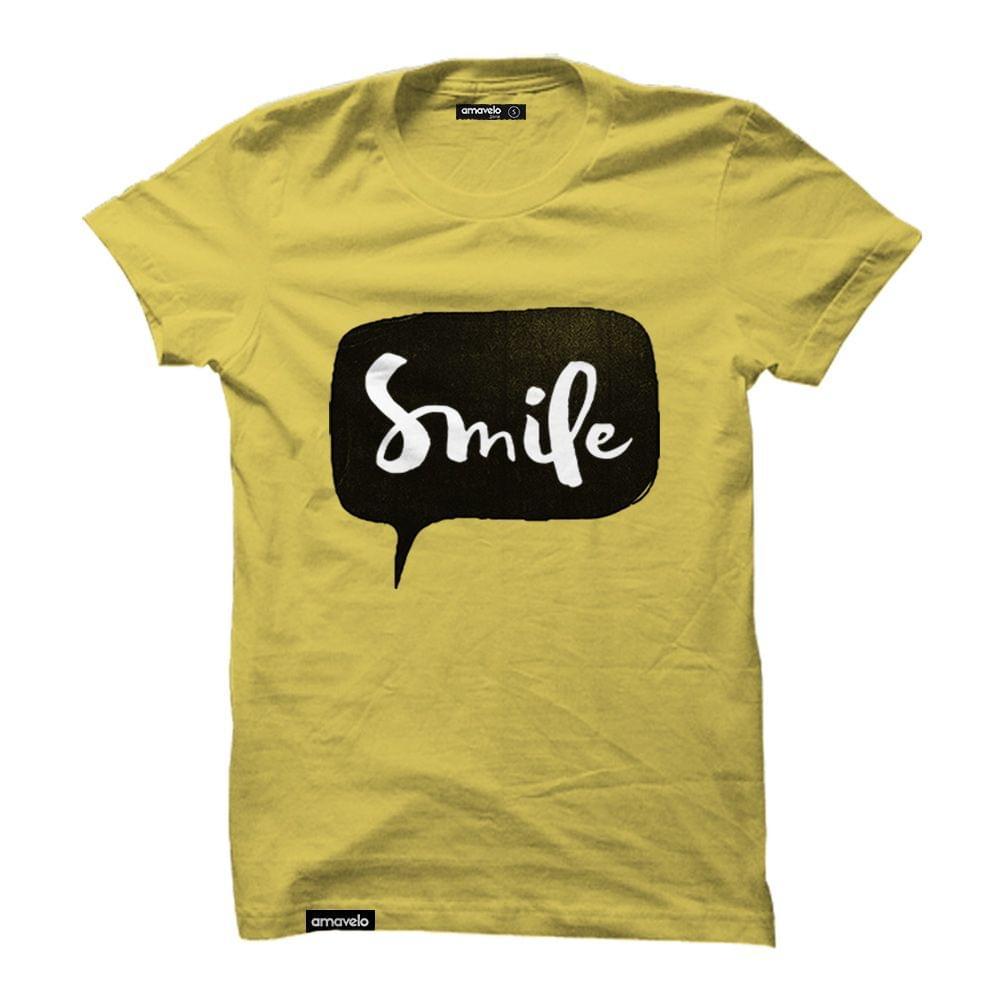 Smile Round Neck T-Shirt