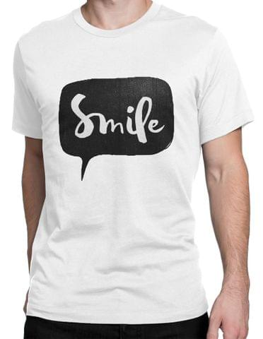 Smile Round Neck T-Shirt
