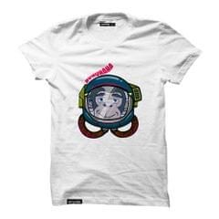 Astro Monkey Round Neck T-Shirt