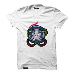Astro Monkey Round Neck T-Shirt