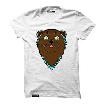 Shady Otter Round Neck T-Shirt