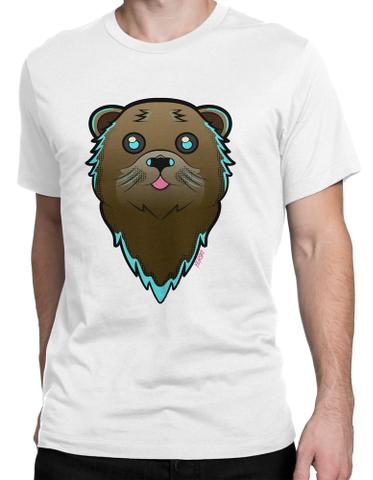 Shady Otter Round Neck T-Shirt