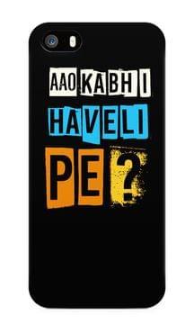 Aao Kabhi Haveli Pe Premium Printed IPhone 5/5S Case