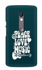 Peace Love Music Premium Printed MOTO X Play Case