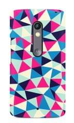 Triangle Texture Premium Printed MOTO X Play Case