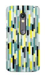 Coloured Lines Texture Premium Printed MOTO X Play Case