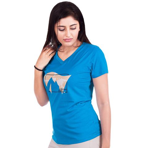 AdventureWorx Women's TravelEx-W04 Cotton T-Shirt (Blue)
