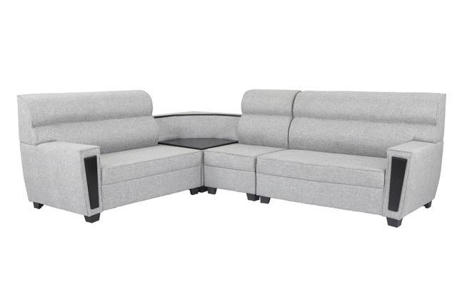 Ceylon Sectional Corner Fabric Sofa in light grey