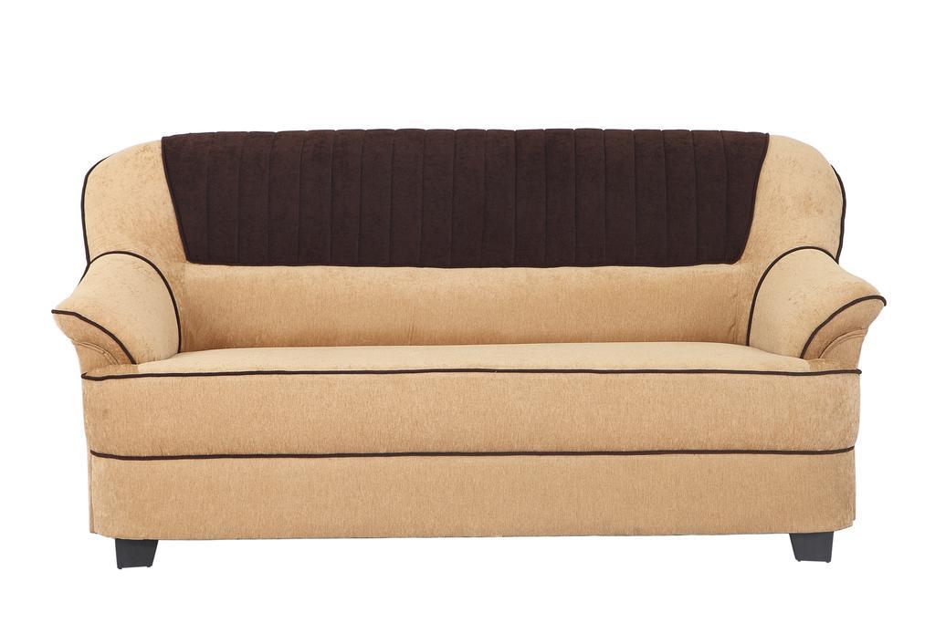 Cochin 3 Seater Fabric Sofa  in Cream-Brown