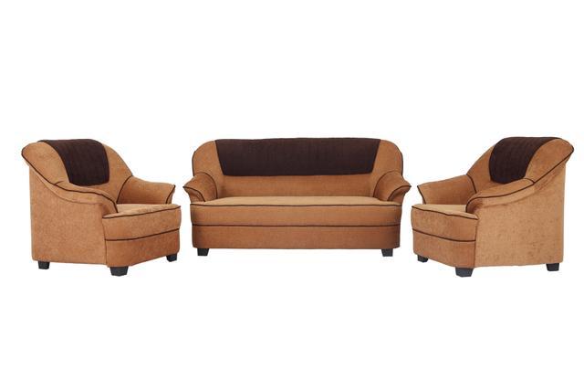 Cochin 3+1+1 Fabric Sofa Set in Golden-Brown