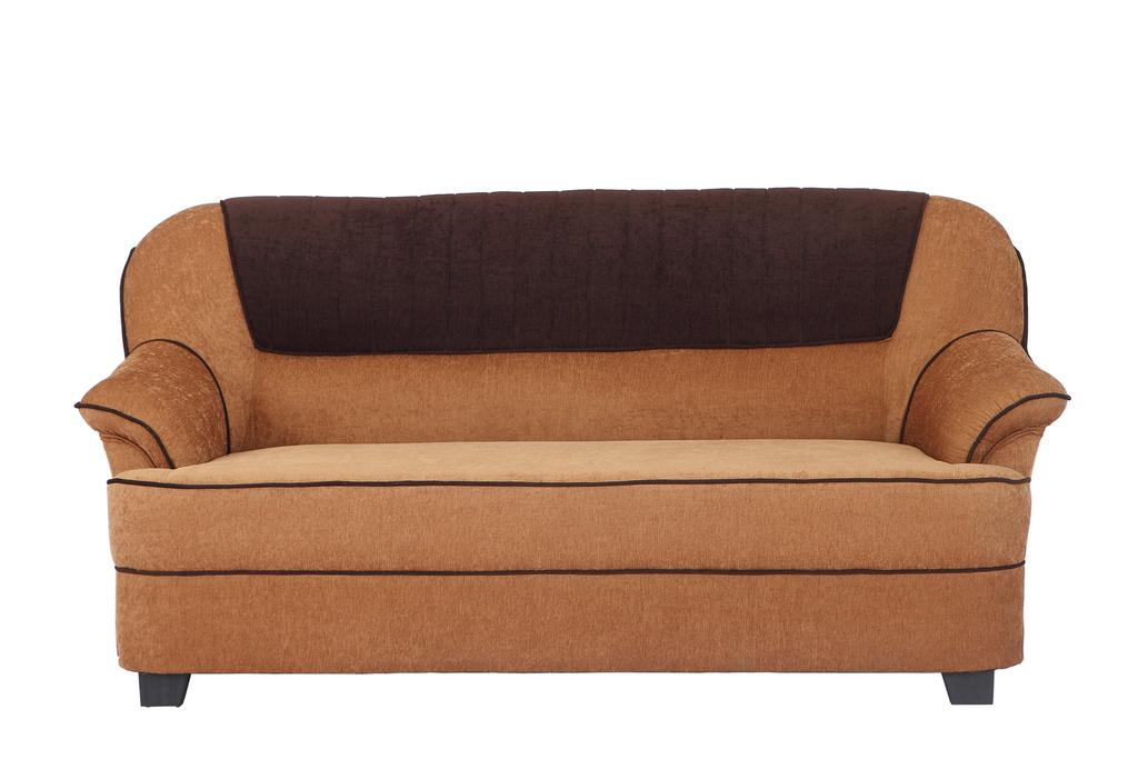 Cochin 3 Seater Fabric Sofa  in Golden-Brown