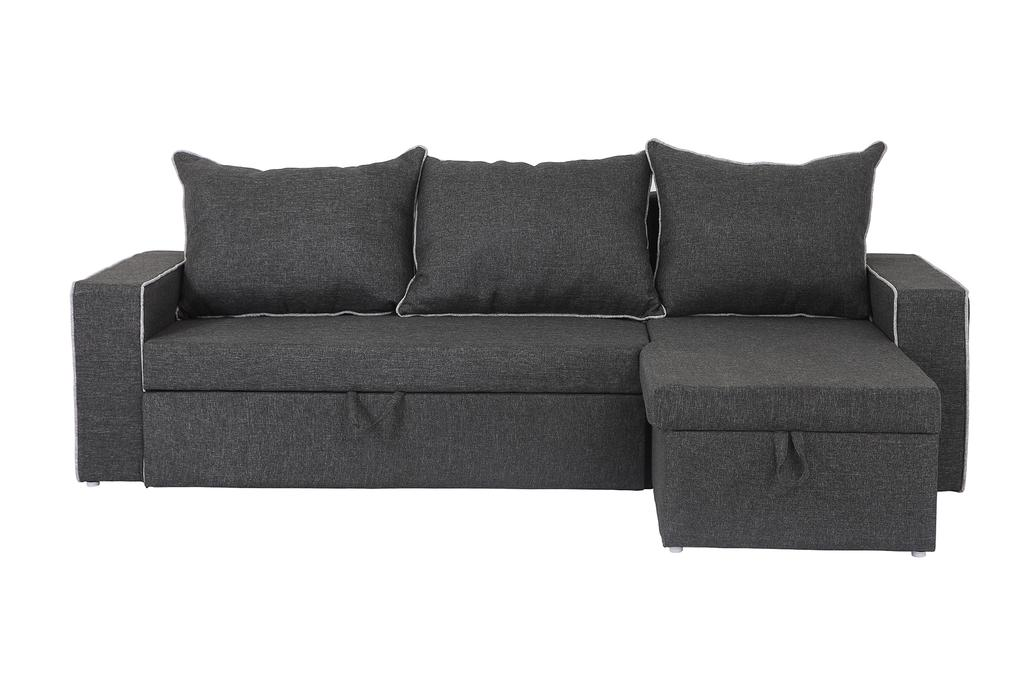 Hong kong LHS 3 Seater Sofa With Lounger in Grey