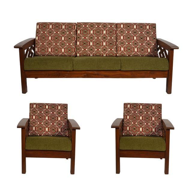 Pearl 3+1+1 Teak Wooden Sofa Set