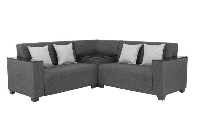 Singapore Corner Fabric Sofa in Dark Grey
