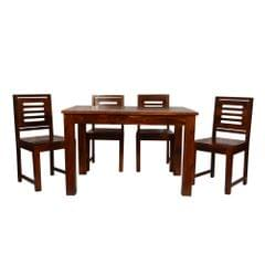 Seattle 4 Seater Dining Table in Provincial Teak Finish