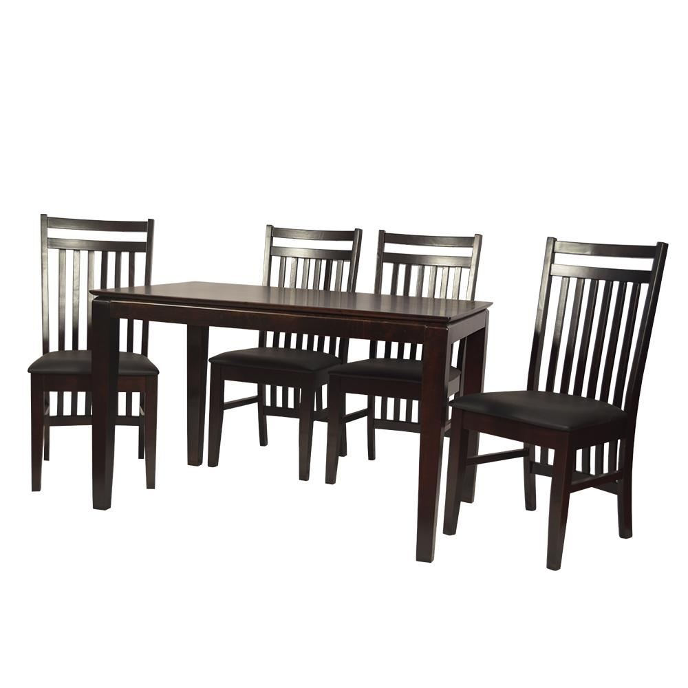 Samurai 4 Seater Dining Table Solid Wood in Espresso Finish