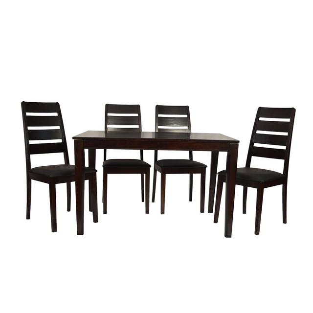 Romania 4 Seater Dining Table Solid Wood in Espresso Finish