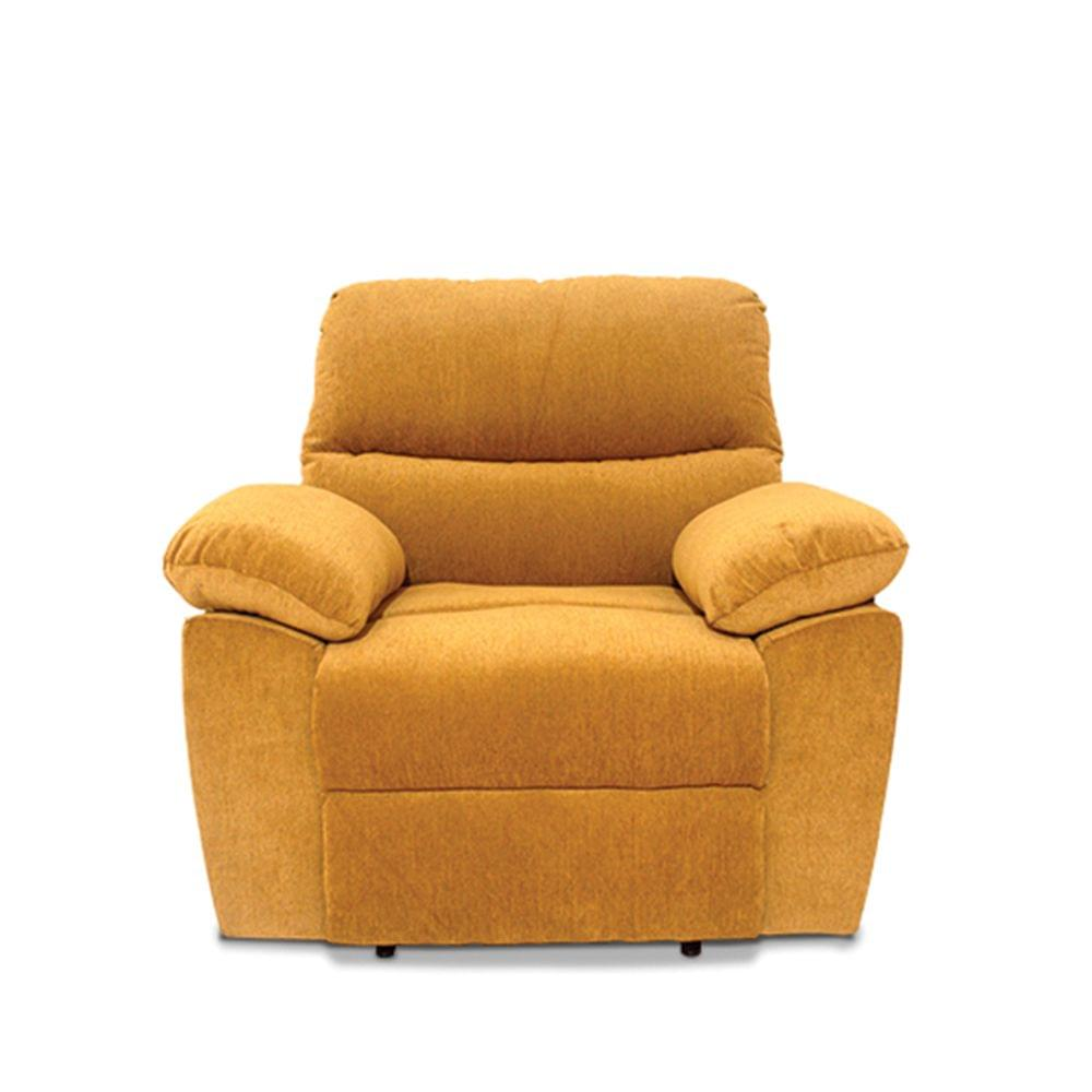 Bradford 1 Seater Fabric Recliner  in Camel colour