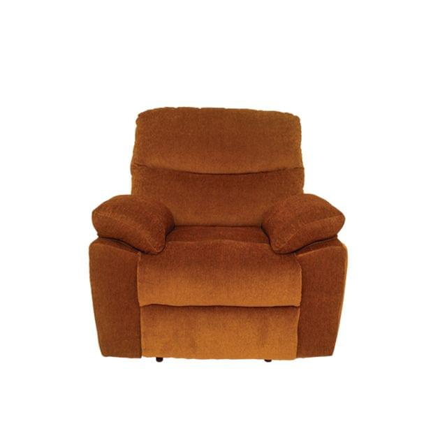 Bradford 1 Seater Fabric Recliner  in Golden Brown colour
