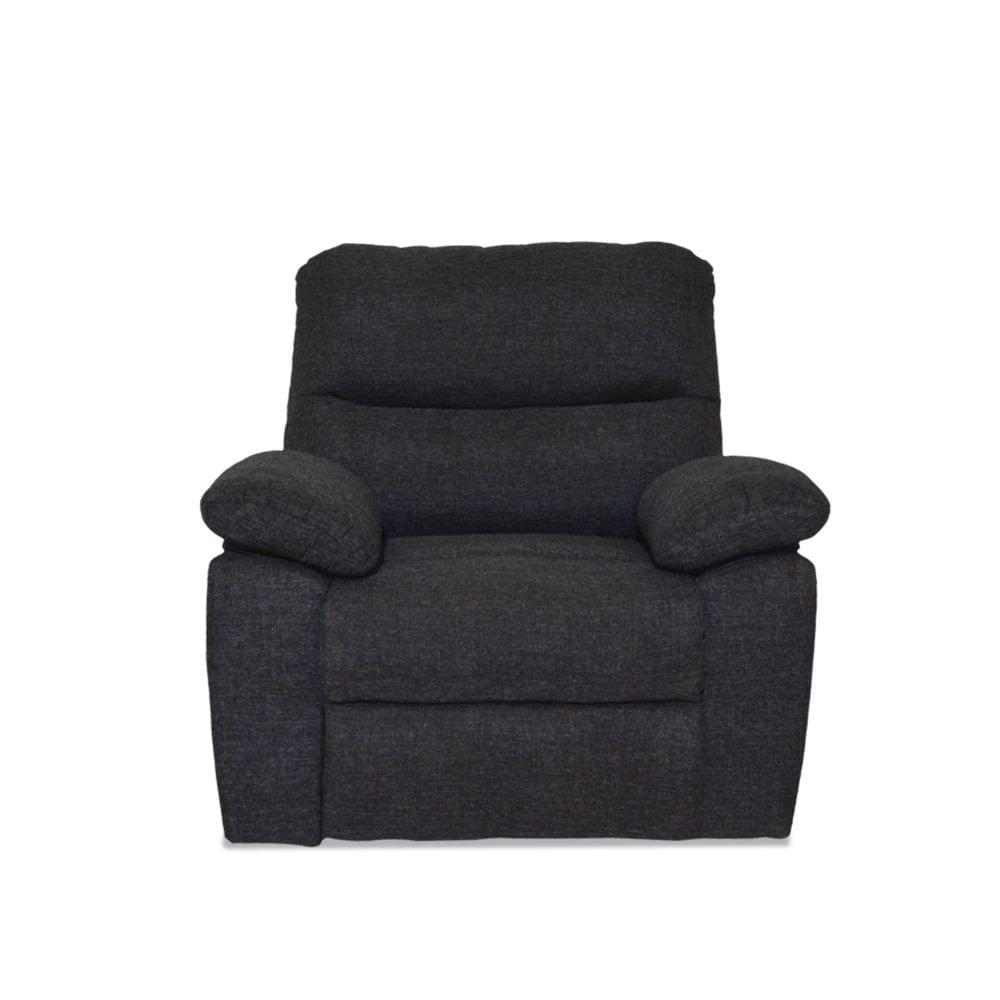 Bradford 1 Seater Fabric Recliner  in Dark Grey colour