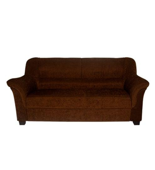 Xavier 3+1+1 Fabric Sofa Set  in Royal Brown