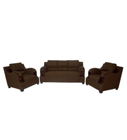 Castello 3 +1+1 Fabric Sofa Set in Olive Brown