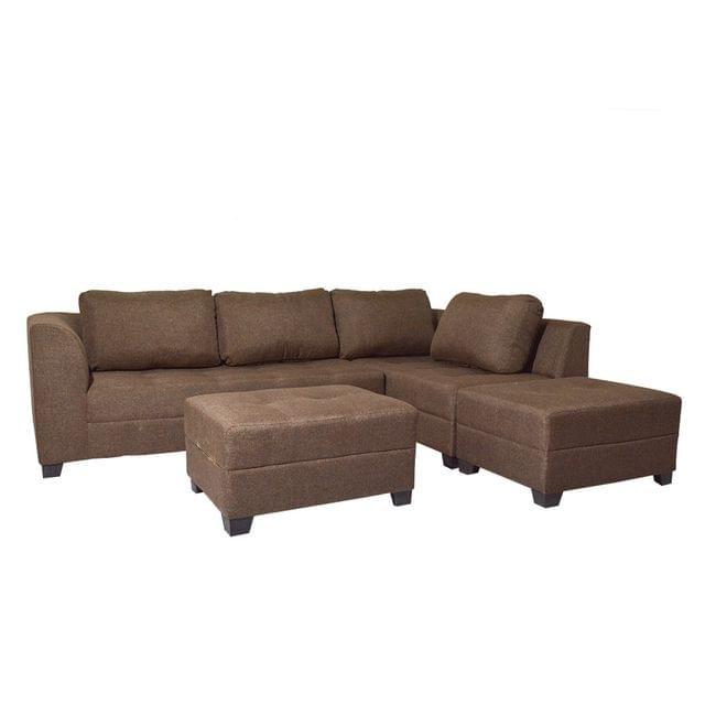 Venus Sectional Corner  Fabric Sofa in Light Brown