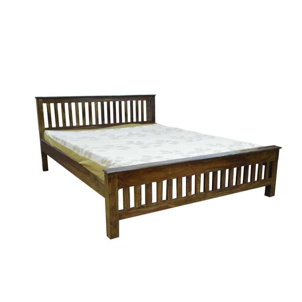 Abbey Solidwood Queen Bed in Provincial Teak Finish