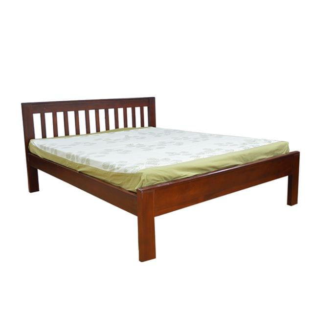 Reaper Solidwood King Bed in Honey Teak Finish