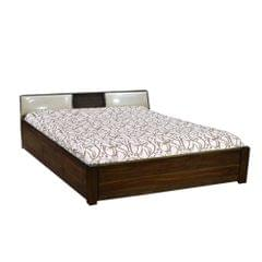 Perth Solidwood King Bed in Provincial Teak Finish