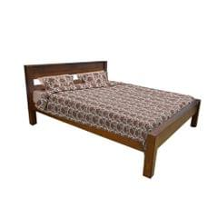Milan Solid Teak King Bed in Honey Teak Finish