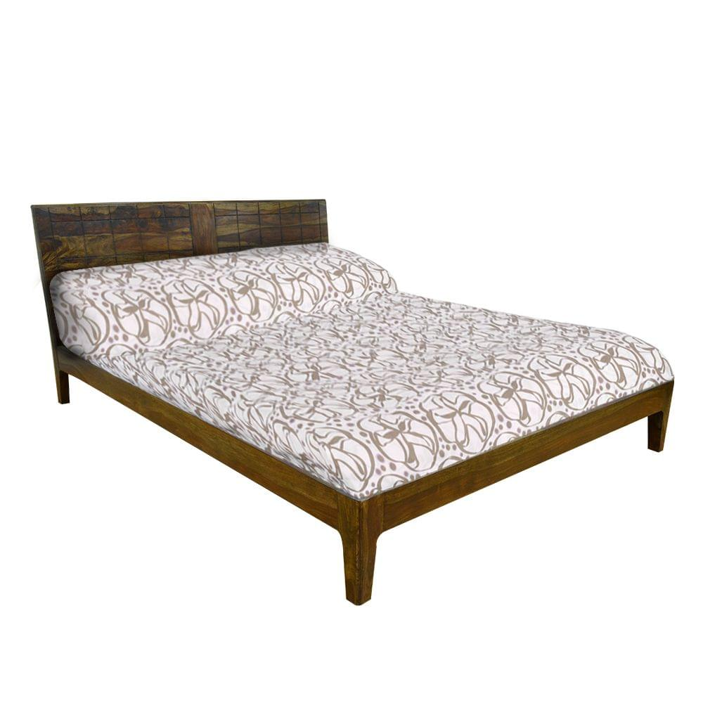 Ibis Solidwood King Bed in Provincial Teak Finish