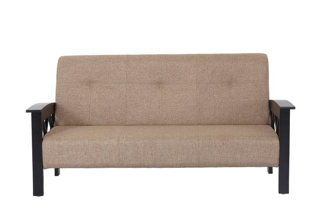 Indonesia 3+1+1 Wooden Sofa Set in Dark Walnut Finish