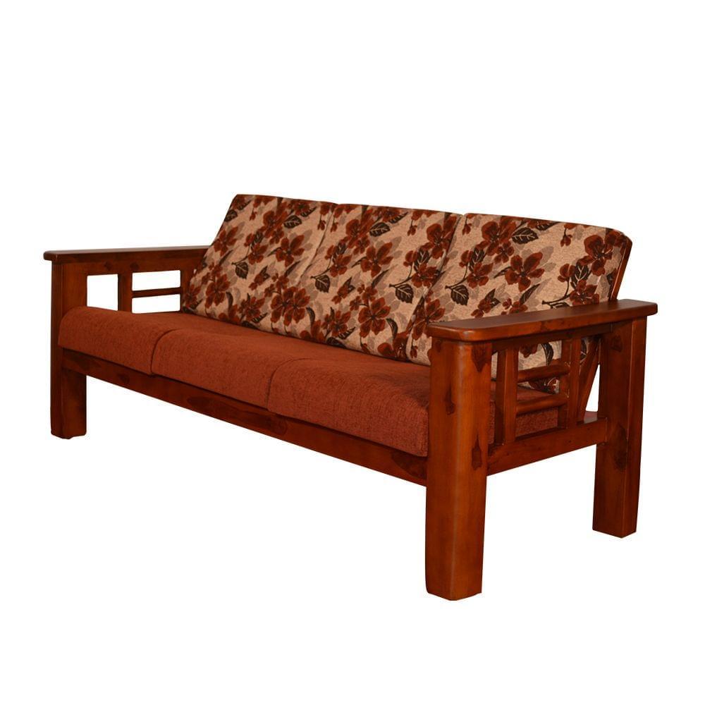 Sleek 3+1+1 Teak Wooden Sofa Set