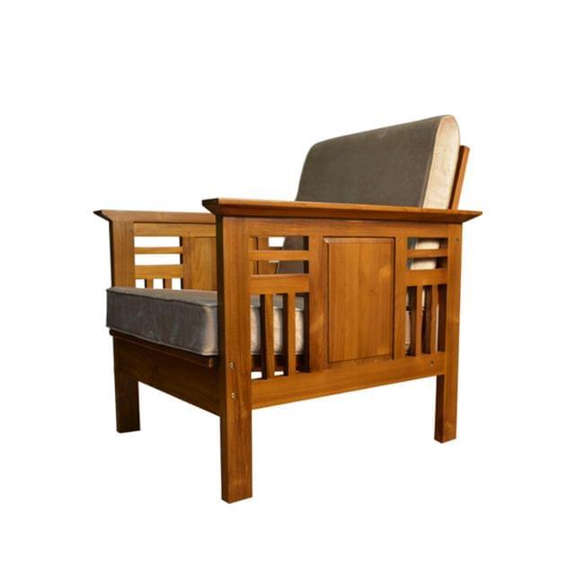 Aramika 3+1+1 Indonesian Teak Wooden Sofa Set