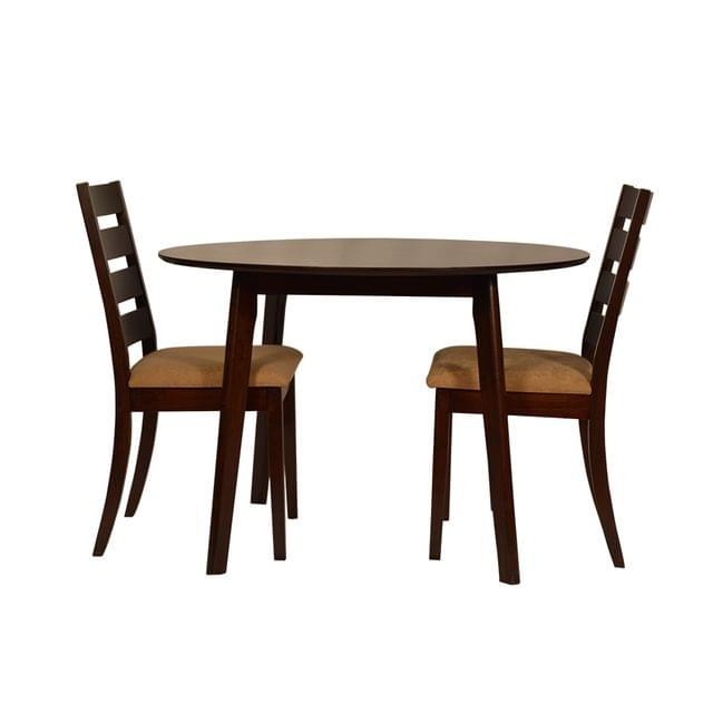 Amber 2 Seater Solid Wood Dining Table in Walnut Finish